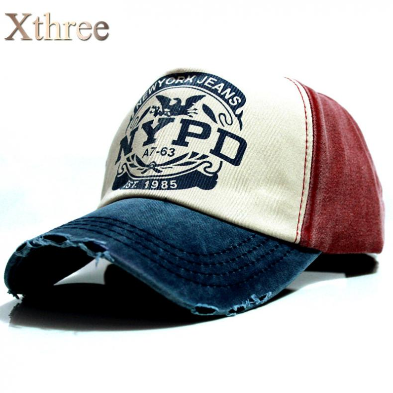 67e69be4c42 xthree wholsale brand cap baseball cap fitted hat Casual cap gorras 5 panel  hip hop snapback hats wash cap for men women unisex