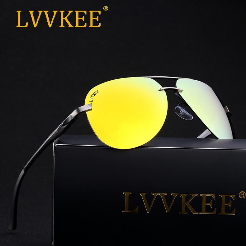 2017 авиатор поляризованные мужчины солнцезащитные очки женщины ночного  видения оригинальный бренд hd polaroid объектив с антибликовым покрытием  очки 1acc8cc77e4