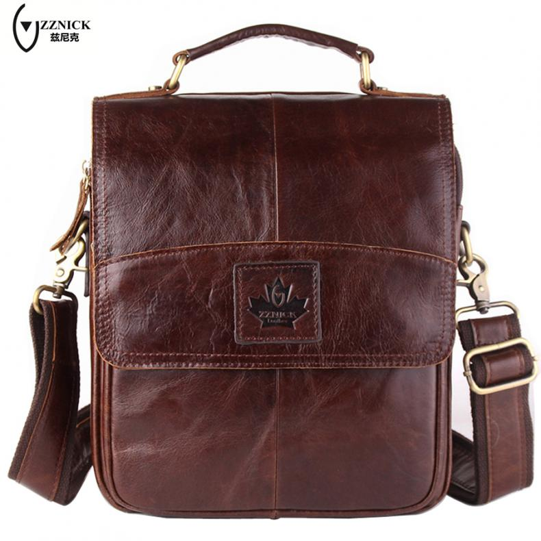 ZZNICK Genuine leather men bag men messenger bags small shoulder bags  crossbody bag small men s leather handbag Hot sale  6903 3e2ddba14acdc