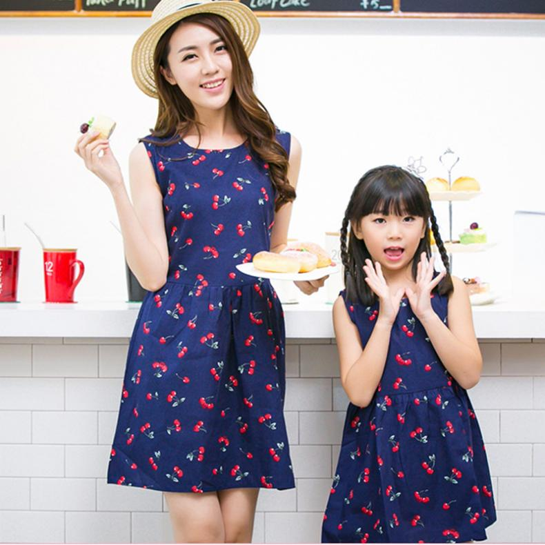 Girl Dress Baby Clothes Casual Summer Matching Mother Daughter