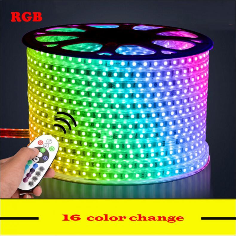 5M 6M 7M 8M 9M 10M 13M RGB Led Strip 5050 Waterproof Led Verlichting ...